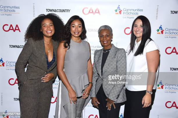 Gabrielle Wooden Lauren Wooden Bonnie Hill and Jennifer DiGrazia attend Communities In Schools LA 'Lunch With a Leader' on October 19 2018 in West...