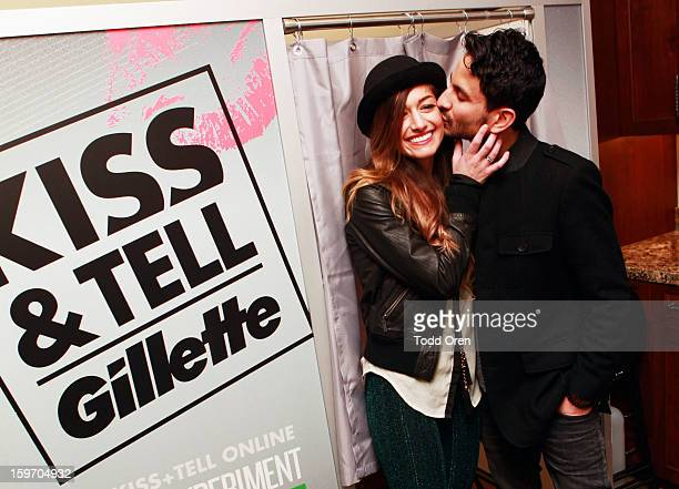 Gabrielle Wortman and Jason Rosen attend Sears Shop Your Way Digital Recharge Lounge on January 18 2013 in Park City Utah