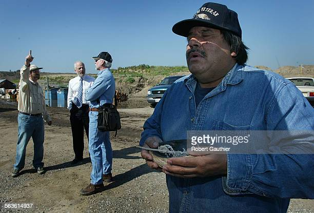 Gabriellino Tongva Tribal chairman Anthony Morales performs a cleansing ceremony with Sage before touring the Playa Vista Development where more the...