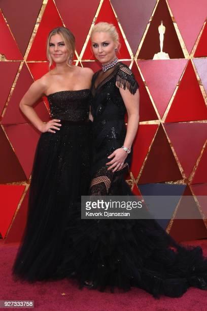Gabrine Muguruza and Malin Akerman attend the 90th Annual Academy Awards at Hollywood Highland Center on March 4 2018 in Hollywood California