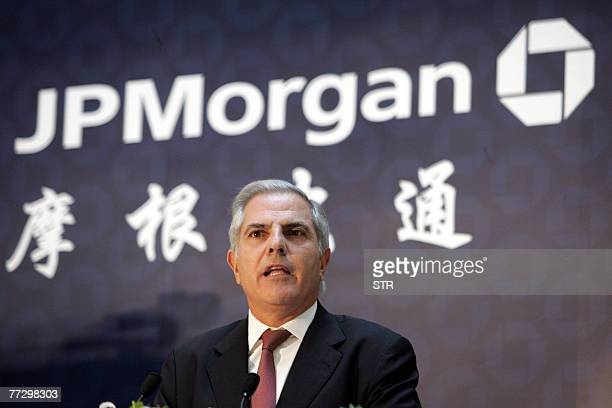 Gaby Abdelnour Chairman and CEO of JP Morgan Chase Asia Pacific during a press conference after officiating the local incorporation of the bank in...