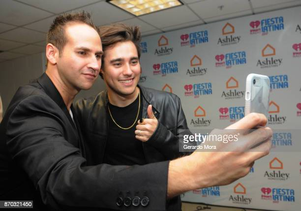 Gaby Calderon and Jorge Blanco attend the iHeartRadio Fiesta Latina Celebrating Our Heroes at American Airlines Arena on November 4 2017 in Miami...