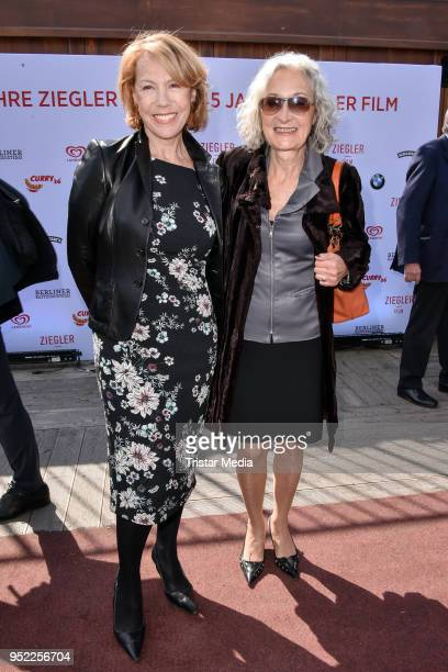 Gaby Dohm and Eleonore Weisgerber during the 45th anniversary celebration of Ziegler Film at Tipi am Kanzleramt on April 27 2018 in Berlin Germany