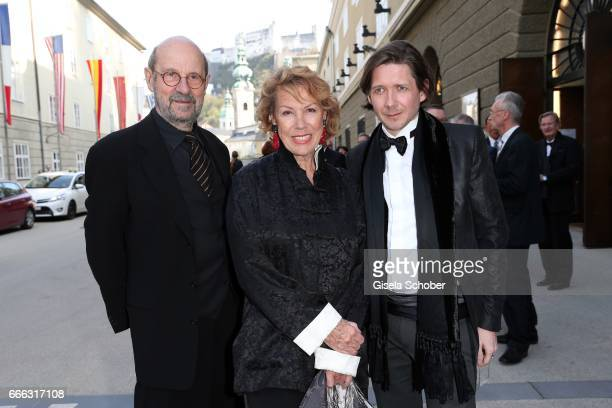 Gaby Dohm and her partner Peter Deutsch and her son Julian Plica during the opening of the Easter Festival 2017 'Walkuere' opera premiere on April 8...