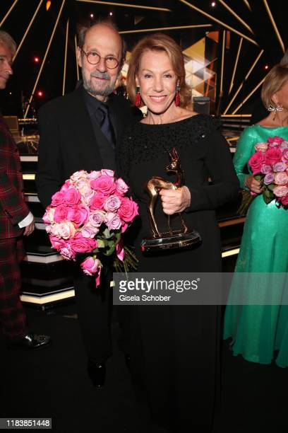 Gaby Dohm and her partner Peter Deutsch with award during the 71st Bambi Awards final applause at Festspielhaus BadenBaden on November 21 2019 in...
