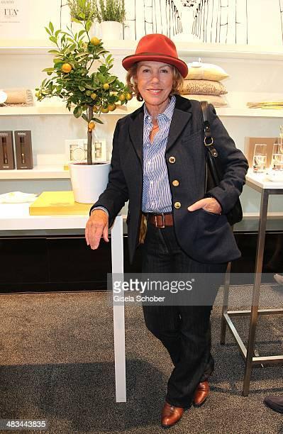Gaby Dohm attends the 'Studio Italia La Perfezione del Gusto' grand opening at Oberpollinger on April 8 2014 in Munich Germany