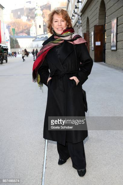 Gaby Dohm during the Easter Opera Festival opening premiere of 'Tosca' at Grosses Festspielhaus on March 24 2018 in Salzburg Austria The Salzburg...
