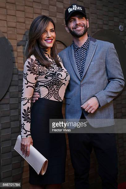 Gaby Espino and Arap Bethke pose during HBO Latin America Red Carpet at Foro Indierocks on July 12 2016 in Mexico City Mexico