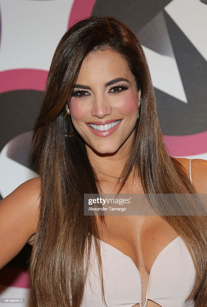 Gaby Espino Arrives At Telemundo International Welcome