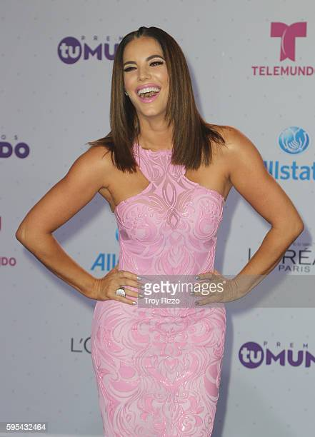 Gaby Espino Arrives At Telemundos Premios Tu Mundo Your World Awards At American Airlines