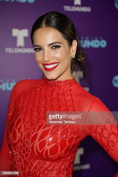 Gaby Espino arrives at Telemundo's Premios Tu Mundo Your World Awards at American Airlines Arena on August 25 2016 in Miami Florida