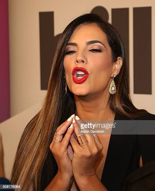 Gaby Espino attends 2016 Billboard Latin Music Awards press conferece at Gibson Guitar Miami Showroom on February 3 2016 in Miami Florida