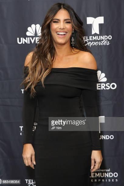 Gaby Espino attends Telemundo's Al Rojo Vivo 15th Anniversary Celebration at Hammerstein Ballroom on May 15 2017 in New York City