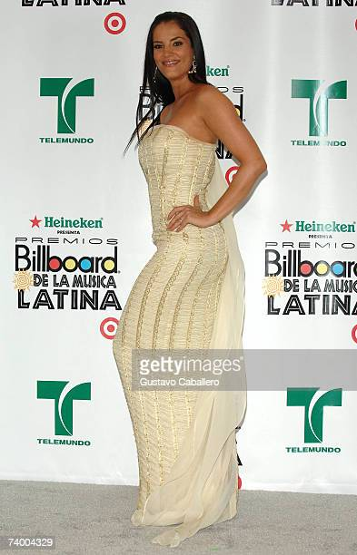 Gaby Espino poses in the press room at the 2007 Billboard Latin Music Awards at the Bank United Center April 26, 2007 in Coral Gables, Florida