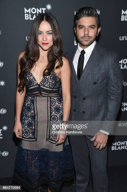 Gaby Gomez and Juan Pablo Jim attend the Montblanc UNICEF Gala Dinner at the New York Public Library on April 3 2017 in New York City
