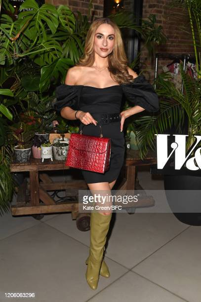 Gaby Guha attends the Wolf Badger 10th Year Anniversary party during London Fashion Week February 2020 at Coal Drops Yard on February 13 2020 in...
