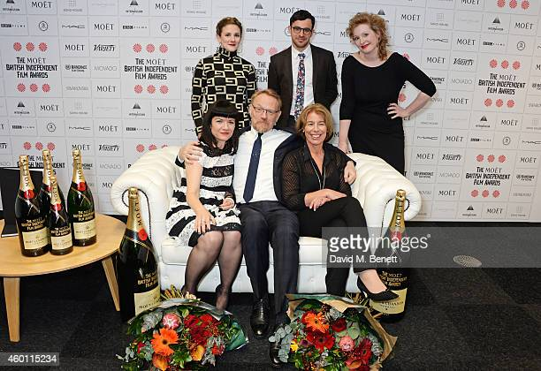 Gaby Hermon Simon Bird Murial van Cruchten Johanna von Fischer Jared Harris and Tessa Collinson pose at The Moet British Independent Film Awards 2014...