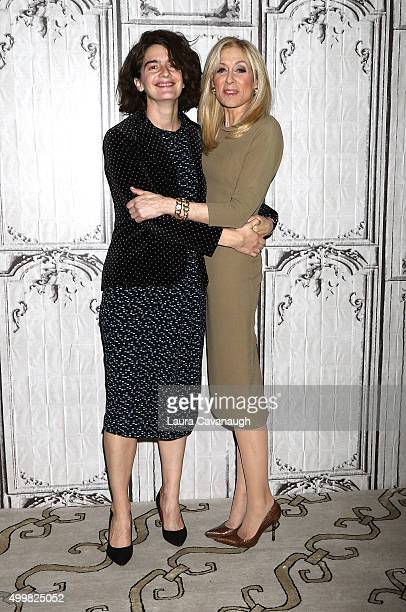 Gaby Hoffman and Judith Light attend AOL BUILD Presents Judith Light And Gaby Hoffman 'Transparent' at AOL Studios In New York on December 3 2015 in...