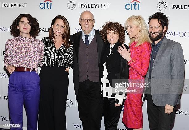 """Gaby Hoffmann, Amy Landecker, Jeffrey Tambor, Jill Soloway, Judith Light and Jay Duplass attend PaleyFest New York 2015 - """"Transparent"""" at The Paley..."""