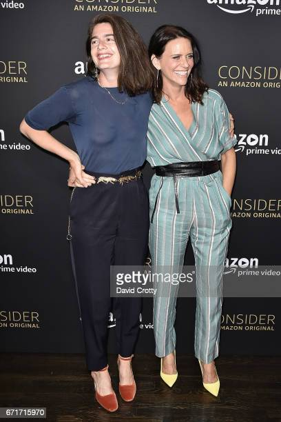 Gaby Hoffmann and Amy Landecker attend Amazon Prime Video's Emmy FYC Event And Screening For Transparent Arrivals on April 22 2017 in Hollywood...