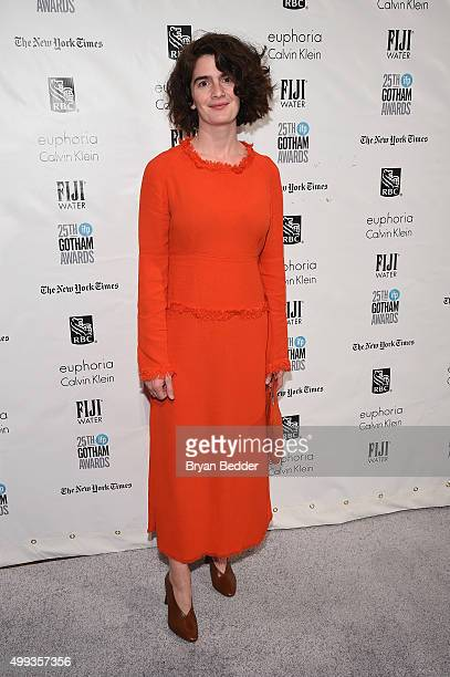 Gaby Hoffmann attends the 25th IFP Gotham Independent Film Awards cosponsored by FIJI Water at Cipriani Wall Street on November 30 2015 in New York...