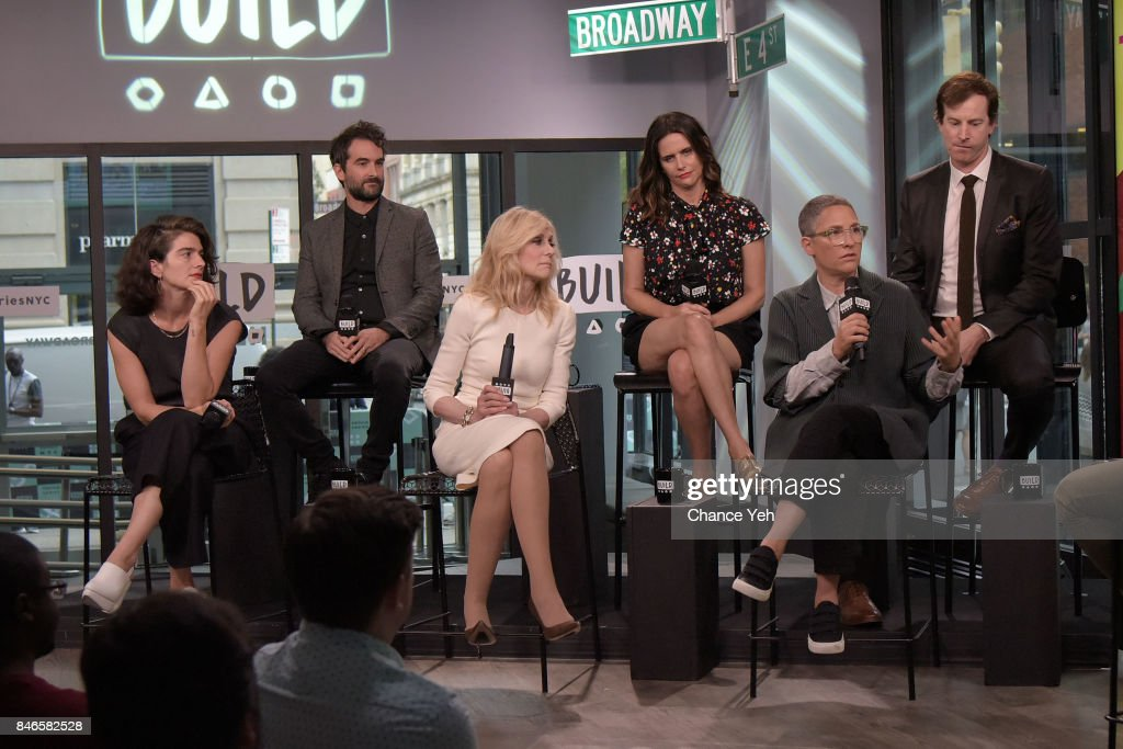 Gaby Hoffmann, Jay Duplass, Judith Light, Amy Landecker, Jill Soloway and Rob Huebel attend Build series to discuss 'Transparent' at Build Studio on September 13, 2017 in New York City.