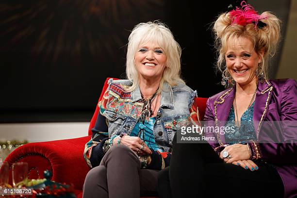 Gaby Koester and Anna Schudt attend the 'Ein Schnupfen haette auch gereicht' on set photo call on October 17 2016 in Huerth near Cologne Germany