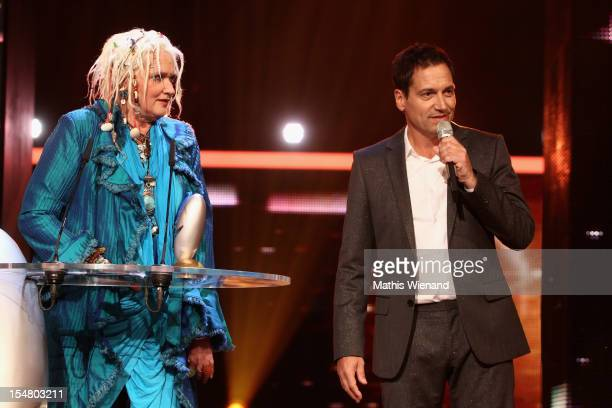 Gaby Koester and Dieter Nuhr pose with his award at the the '16 Annual German Comedy Award' on October 23 2012 in Cologne Germany