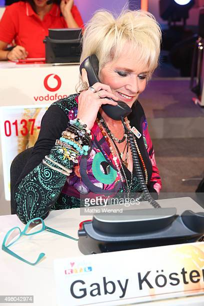 Gaby Koester attends the RTL Telethon 2015 on November 19 2015 in Cologne Germany This year marks the 20th anniversary of the RTL Telethon Instead of...