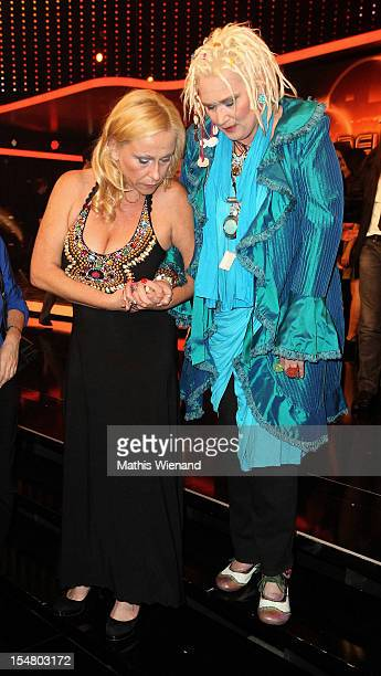 Gaby Koester with girlfriend Michaela Zukunft pose with his award at the the '16 Annual German Comedy Award' on October 23 2012 in Cologne Germany