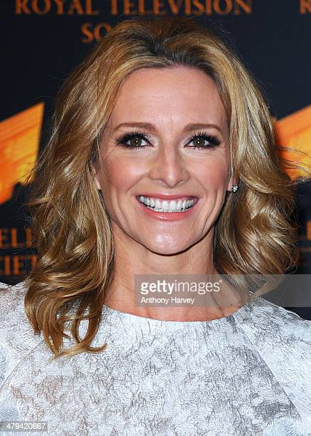Gaby Logan attends the RTS programme awards at Grosvenor House on March 18 2014 in London England