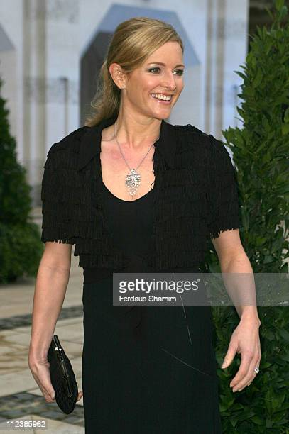 Gaby Logan during ITV's 50th Anniversary Royal Reception Outside Arrivals at Guildhall in London Great Britain