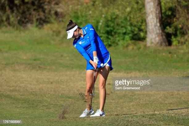 Gaby Lopez of Mexico plays a shot on the fourth hole during the first round of the Diamond Resorts Tournament Of Champions at Tranquilo Golf Course...