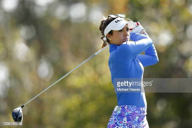 Gaby Lopez of Mexico plays her shot from the seventh tee during the second round of the Diamond Resorts Tournament of Champions at Tranquilo Golf...