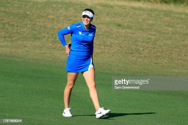 Gaby Lopez of Mexico smiles on the fourth hole during the first round of the Diamond Resorts Tournament Of Champions at Tranquilo Golf Course at the...