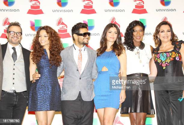 Gaby Moreno and Aleks Syntek Leslie Grace Draco Rosa Chiquis Delgado Natalie Cole and Aida Cuevas onstage at the 14th Annual Latin GRAMMY Awards...