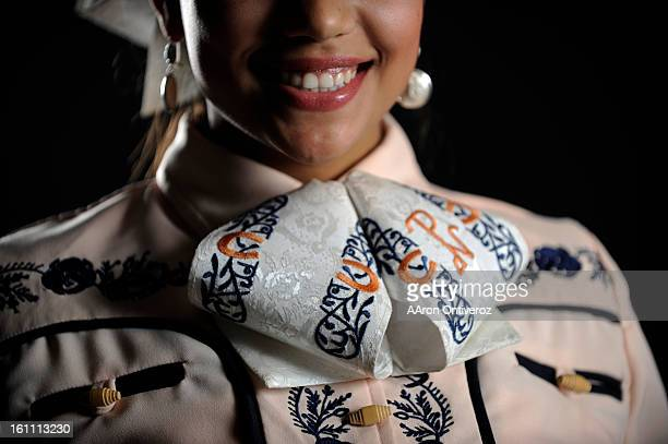 Gaby Padilla poses for a portrait during the Mexican Rodeo Extravaganza at the Denver Coliseum The rodeo combines Mexican culture traditions and...