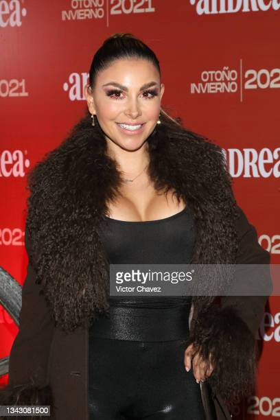 Gaby Ramírez attends the presentation of the Fall/Winter collection by Andrea at TV Azteca Ajusco on September 26, 2021 in Mexico City, Mexico.