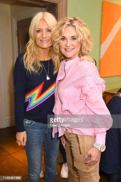 Gaby Roslin and Anthea Turner attend a gala screening of A Dog's Journey at The Soho Hotel on April 27 2019 in London England
