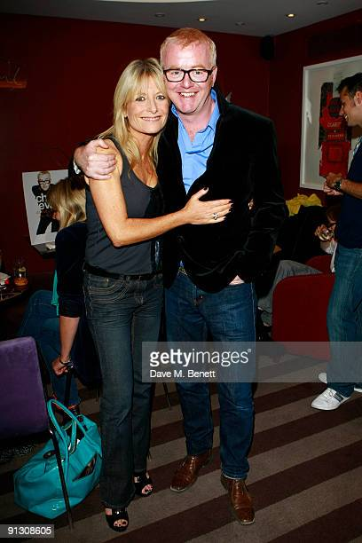 Gaby Roslin and Chris Evans attend Chris Evans book launch party held at the Groucho Club Soho on October 1 2009 in London England