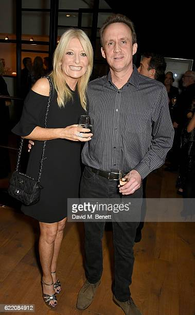 Gaby Roslin and David Osman attend the anniversary party for Kelly Hoppen MBE celebrating 40 years as an Interior Designer at Alva Studios on...