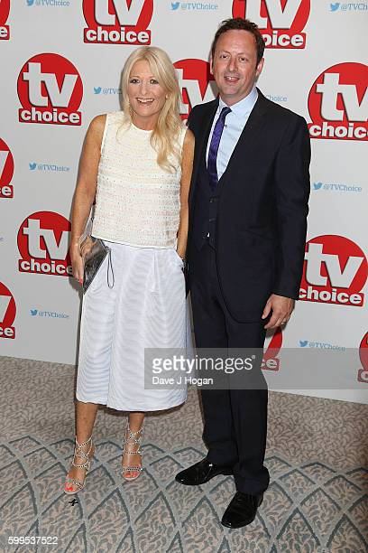 Gaby Roslin and Matt Allwright arrive for the TVChoice Awards at The Dorchester on September 5 2016 in London England