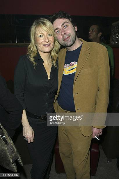 Gaby Roslin and Sean Hughes during No Strings Charity Party Inside at The Hill Nightclub in Muswell Hill London Great Britain