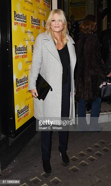 Gaby Roslin arrives at The Carole King Musical Birthday Celebrations at Aldwych Theatre on February 23 2016 in London England