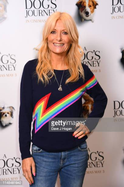 Gaby Roslin attends a gala screening of A Dog's Journey at The Soho Hotel on April 27 2019 in London England