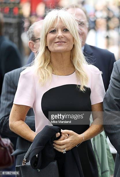 Gaby Roslin attends a memorial service for the late Sir Terry Wogan at Westminster Abbey on September 27 2016 in London England