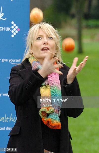 Gaby Roslin during Cancer Research UK's Reduce The Risk Photocall at Cambridge Terrace in London Great Britain