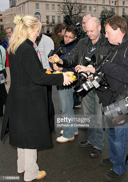 Gaby Roslin during Reduce The Risk Photocall with Gaby Roslin at The Cancer Research Campaign HQ in London Great Britain