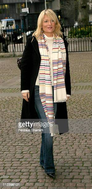 Gaby Roslin during Woman's Own Children of Courage 2004 at Westminster Abbey in London Great Britain