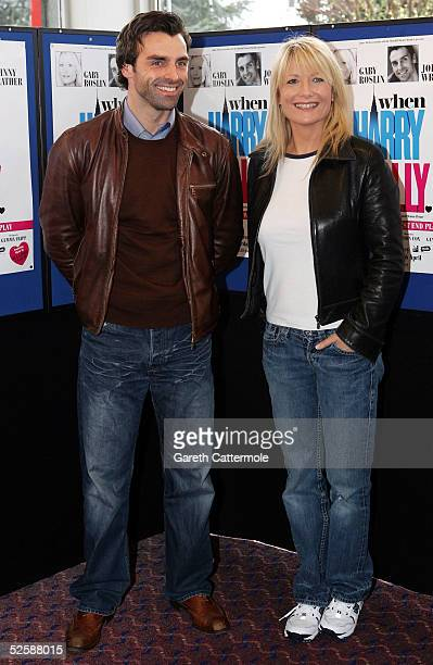 Gaby Roslin joins fellow lead cast member Jonathan Wrather at a photocall to launch the UK Tour of the production When Harry Met Sally at the...